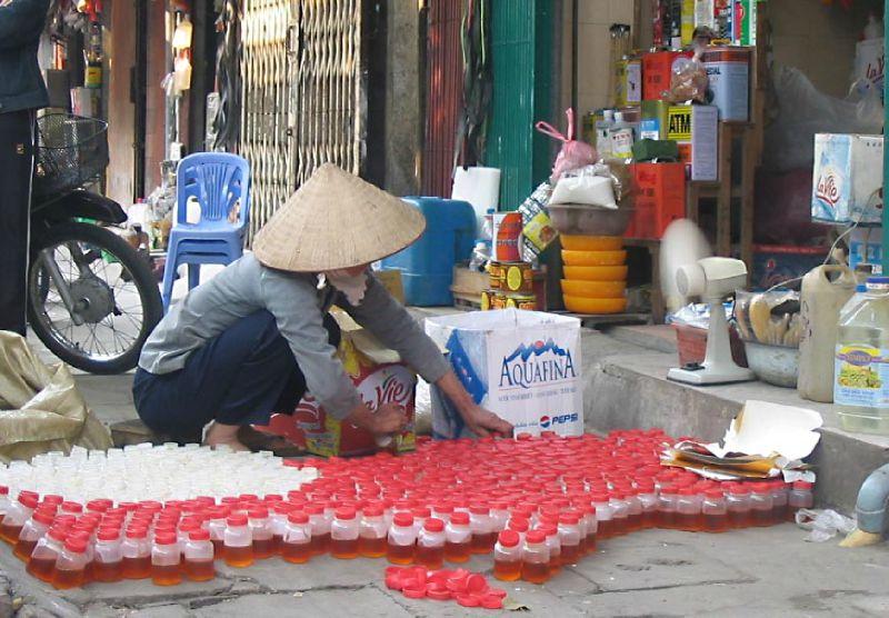 Vieil HANOI - sur le trottoir