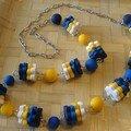 collier bleu et jaune