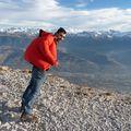 2009 11 21 Cyril qui ce fait porter par le vent au sommet de la Dent de Crolles (2)