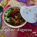 Tajine de curry d'agneau