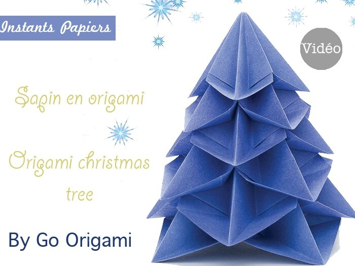 sapin de no l en origami origami christmas tree instants papiers. Black Bedroom Furniture Sets. Home Design Ideas