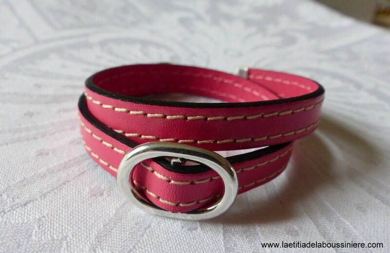 Bracelet double Grain de Café (rose) - 24 €