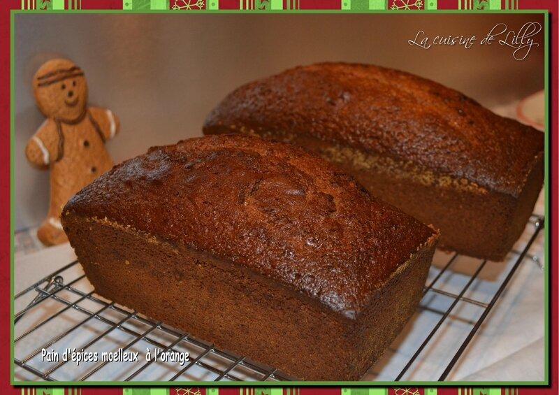 pain d'épices moelleux orange