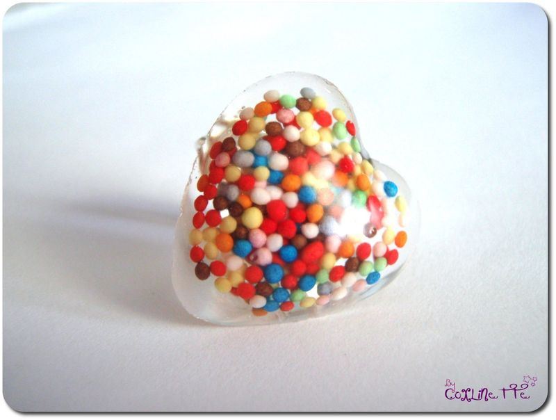 Bague bonbons coeur