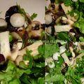 Salade folle aux champignons