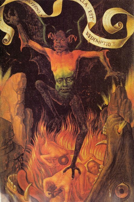 Diable en enfer (Hans Memling)