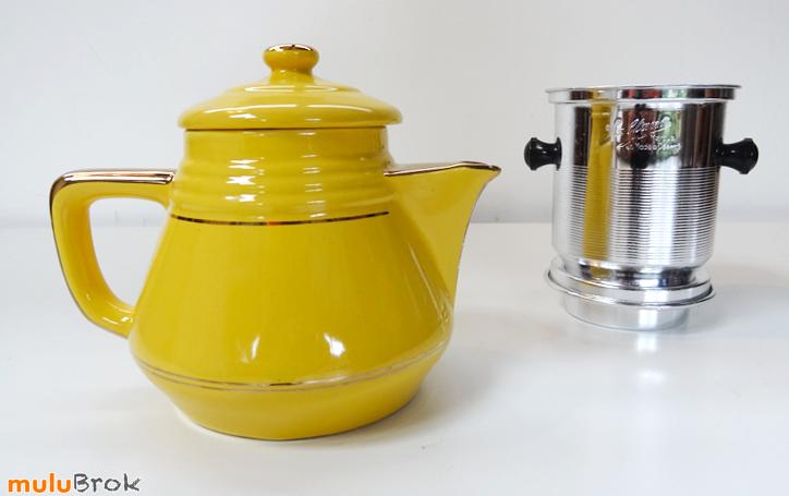 vintage ancienne cafeti re sultana jaune mulubrok brocante en ligne. Black Bedroom Furniture Sets. Home Design Ideas