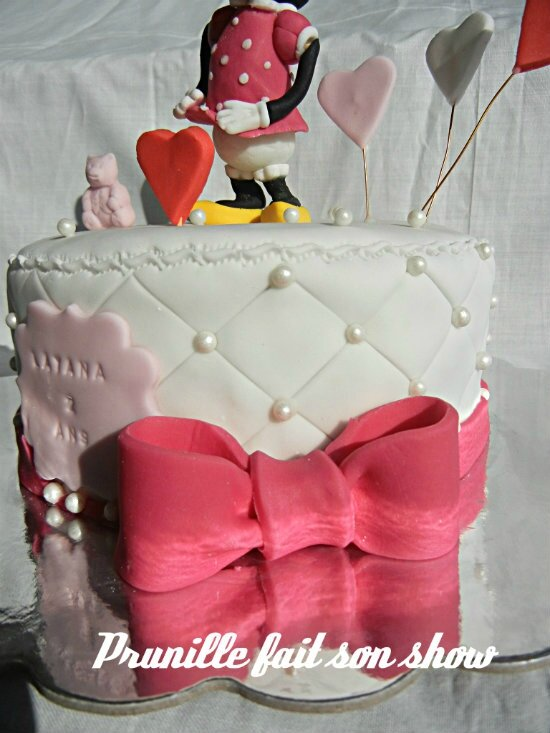 gateau minnie noeud prunillefee