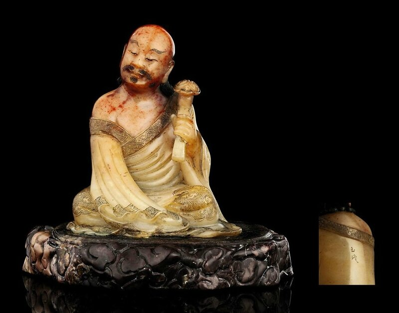 a_signed_soapstone_figure_of_a_seated_luohan_signed_yu_xuan_18th_centu_d5367044g