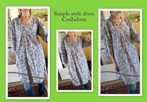 Simple style dress