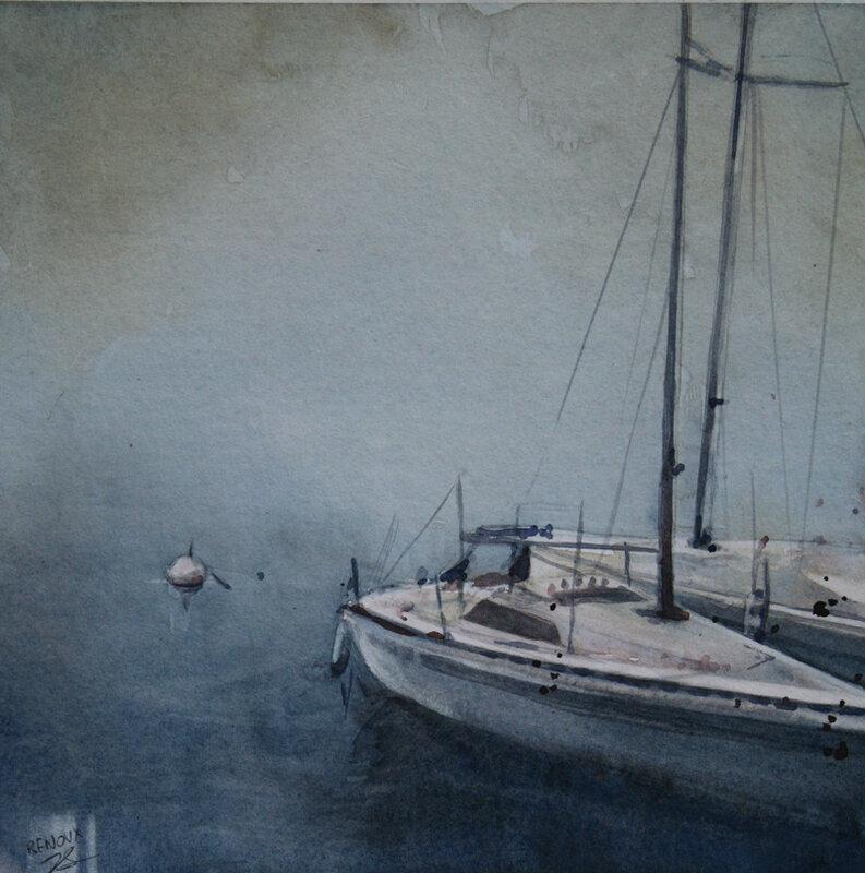 bateaux_brume2_aquarelle_vanessaRenouxPC2018