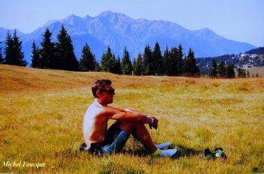 679) Montée à vélo au col des Saisies (Savoie)