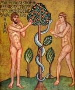 Adam Eve et le serpent