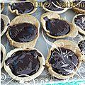 Mini tartelette caramel beurre salé et chocolat