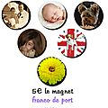Magnet photo diam 56mm a personnaliser