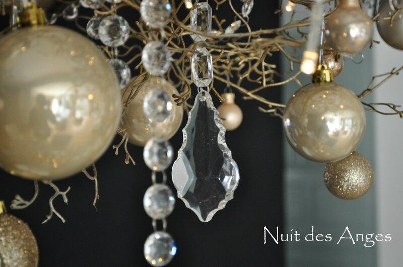 Nuit des anges décoratrice décoration de table dorée 011