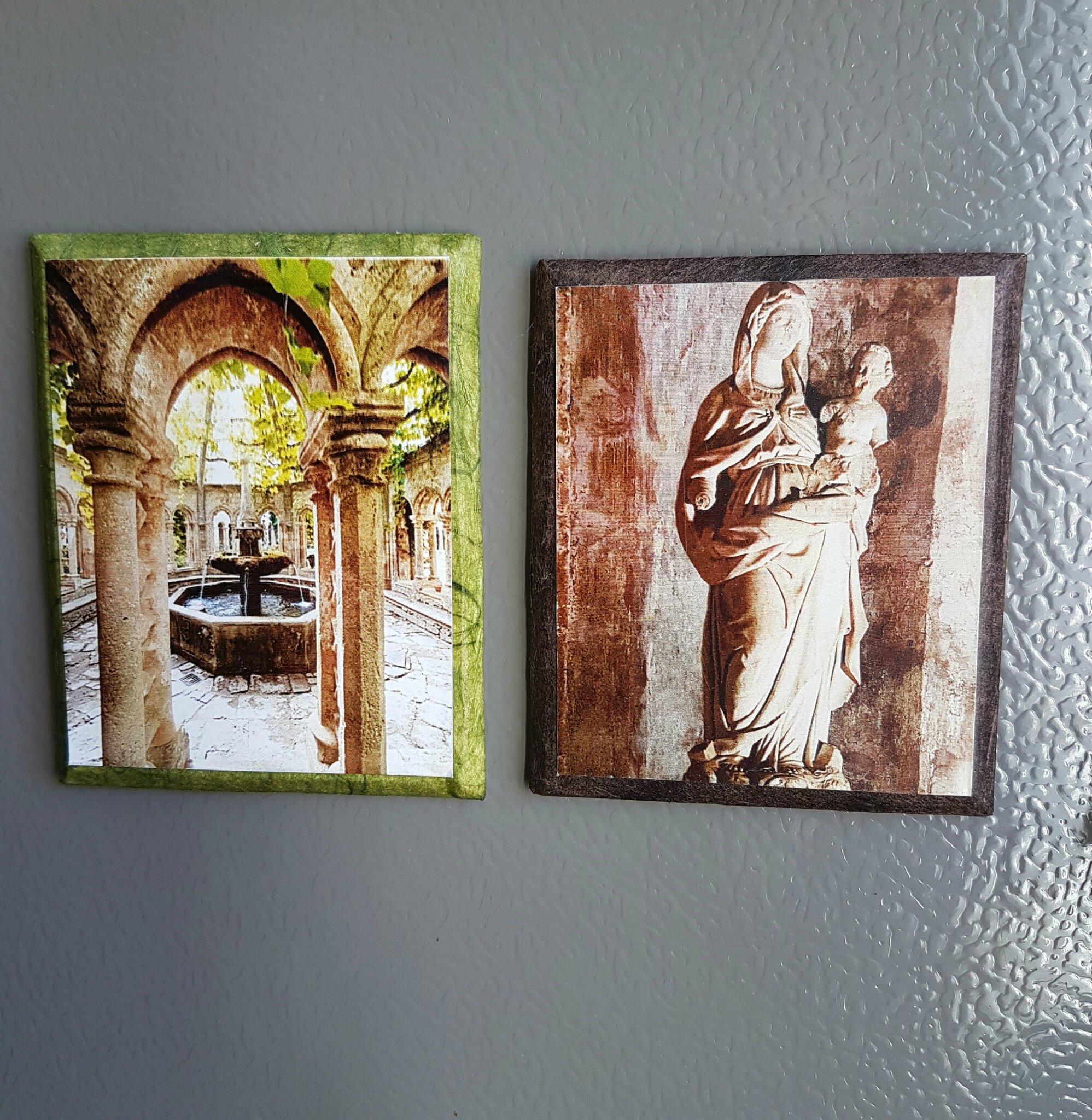 Fontaine et Vierge