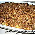 CABILLAUD SOUS PARMENTIER DE PANAIS , CRUMBLE DE PAIN D'EPICES 