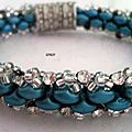 Bracelet duette bleu et crystal