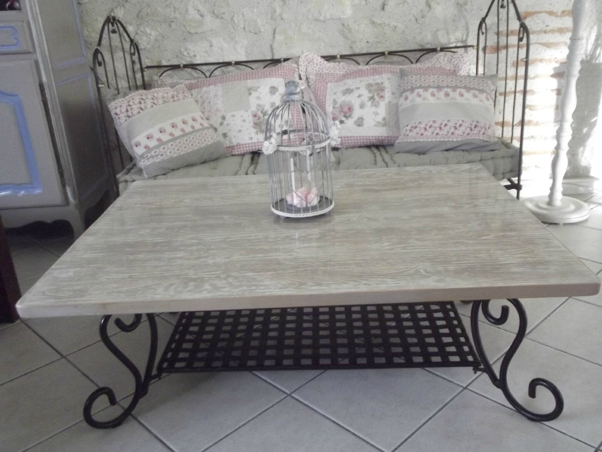 Table basse patin e patine deco - Peindre une table en fer ...