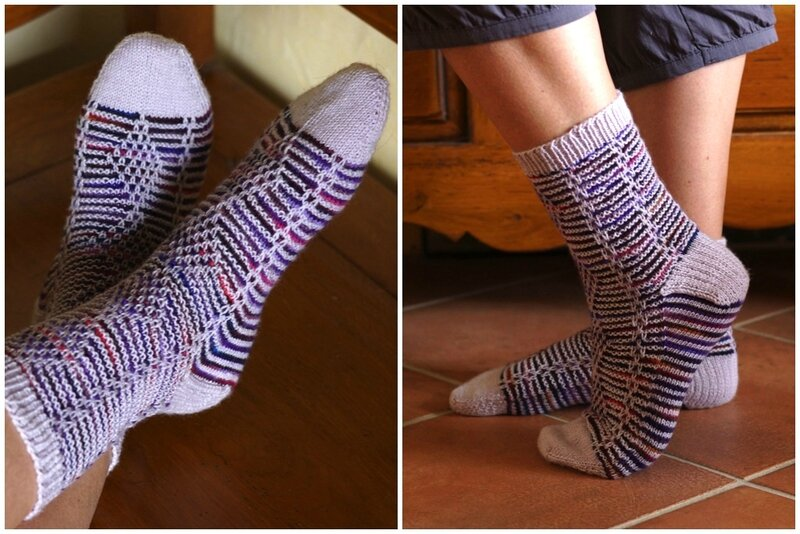 chaussettes purple dream