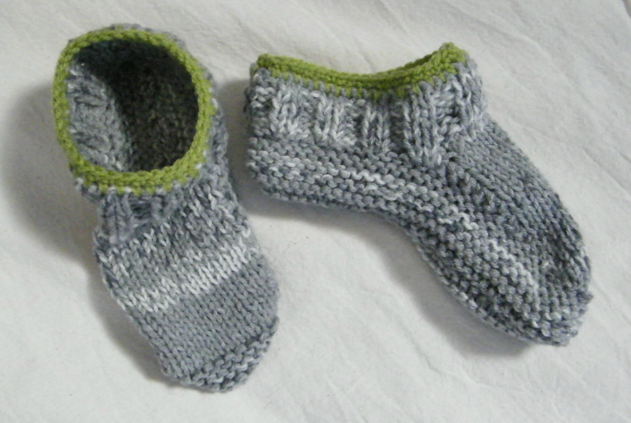 chaussons adulte tricot