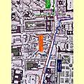 Les numéros sectionnaires de la rue saint-honoré à paris en 1791.