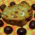 Re-cake !!! châtaignes, lardons, paprika !