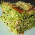 Lasagnes aux deux saumons et poireaux & blog anniversaire