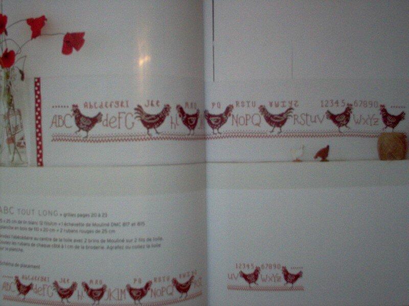 Poules & poulettes au point de croix