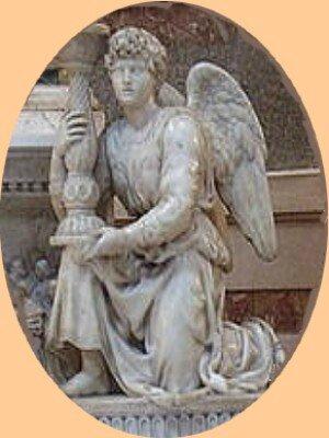 Statue-Michel-Ange-marbre