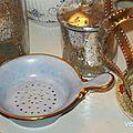 Passoire à thé porcelaine danoise
