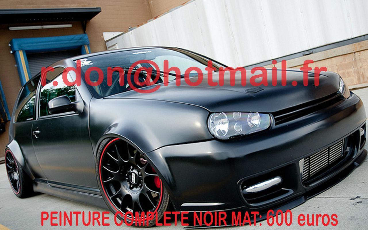 volkswagen golf 2 covering noir mat covering noir mat peinture noir mat total covering voiture. Black Bedroom Furniture Sets. Home Design Ideas