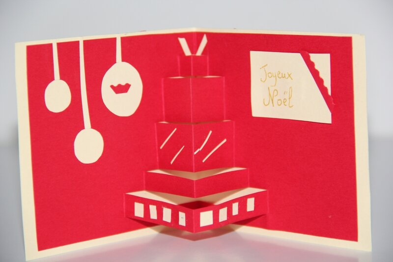 Carte de noël pop up ( cadeau et sapin)