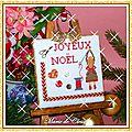 Pinkeep Joyeux Noël Modèle de Baboubidouille 1