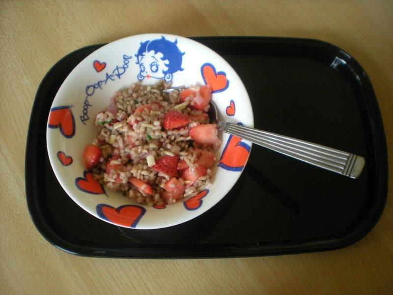 Riz fraises