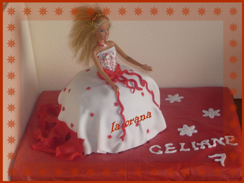 Gâteau Barbie gourmande/Barbie cake