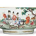 A large famille rose punchbowl, qianlong period (1735-96)