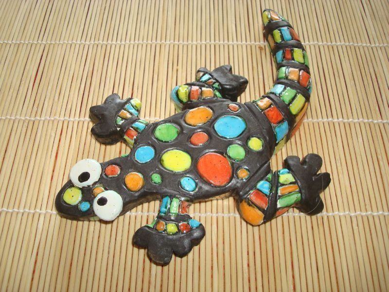 Vase gr s avec empreintes et batik poissons c ramique de - Idee de poterie ...