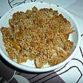 Crumble poire et mangue