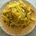 salade de choux au curry et citron vert