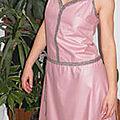 robe esprit année 20 t38 vieux rose
