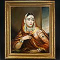 George duncan beechey (1798-1852), portrait of begum of oudh, lucknow, india, circa 1840