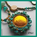 Turquoise verte, jade et abalones...
