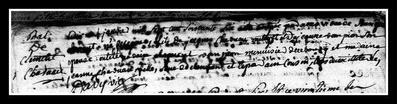 Acte de naissance de l'abbé Charruau