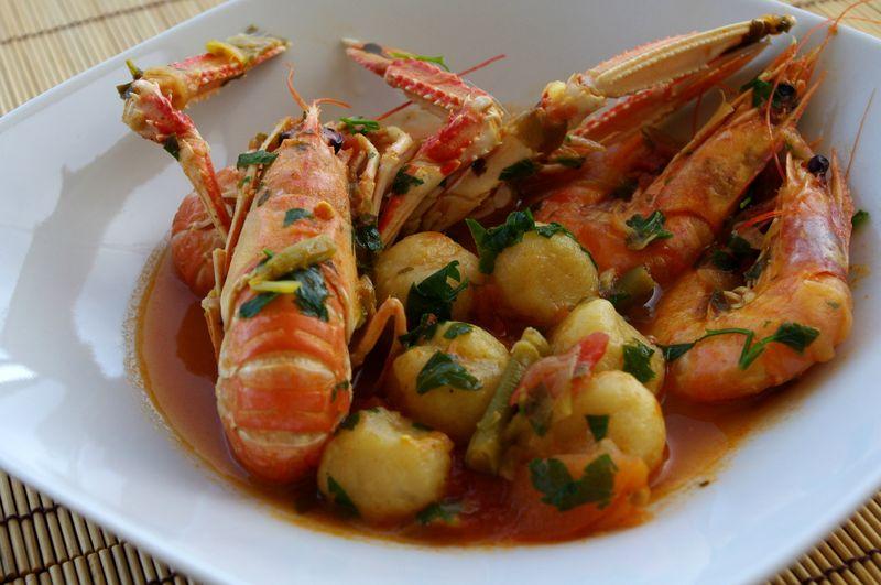 Dombr s aux crevettes et langoustines kiyakuisine - Recette cuisine antillaise ...