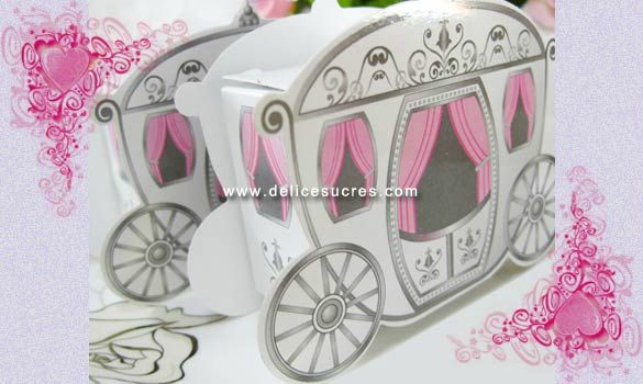 emballage mariage contenant boites a dragee mariage carrosse cendrillon - Boite A Gateau Mariage Orientale