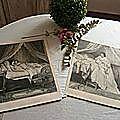 duo de gravures romantiques