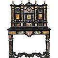 An italian ormolu-mounted, specimen hardston, tortoiseshell and ebony cabinet-on-stand. circa 1700, probably florence