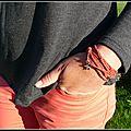 Tee-shirt gris, emmanchures fashion